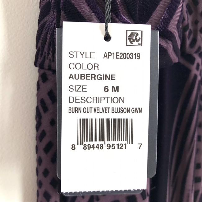Adrianna Papell Purple Burn Out Velvet Blouson Gown Long Cocktail Dress Size 6 (S) Adrianna Papell Purple Burn Out Velvet Blouson Gown Long Cocktail Dress Size 6 (S) Image 8