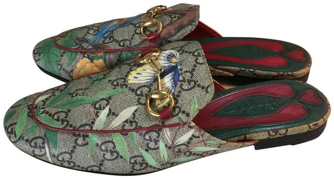Item - Brown Green Red Gold Multi Slip-on Italy Mules/Slides Size EU 37 (Approx. US 7) Regular (M, B)
