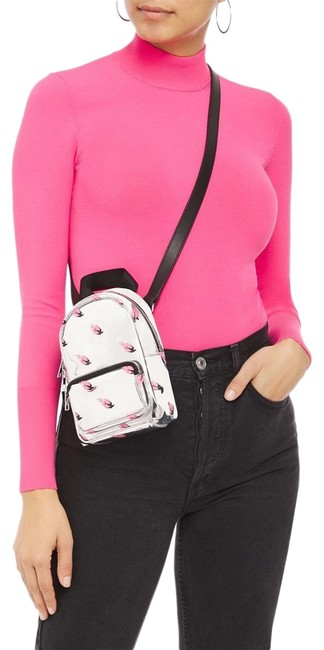 Item - Backpack Printed Faux Mirrored Leather Cross Body Bag