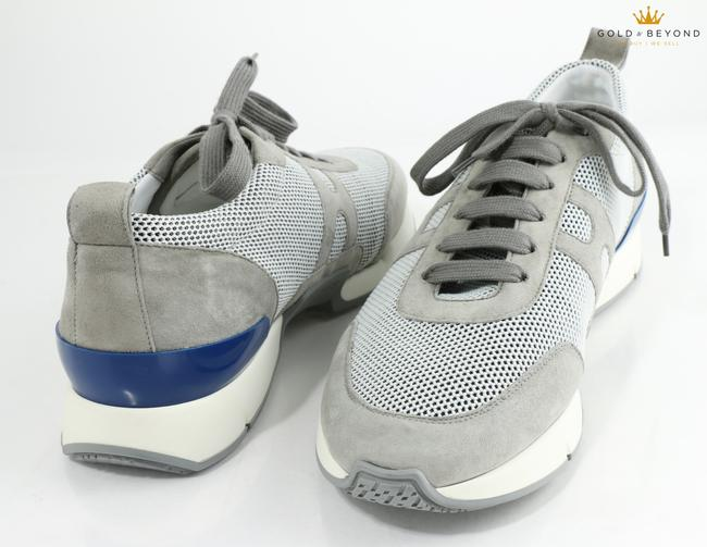 Item - Gray Starter Fishnet Sneakers Shoes