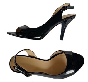 Nine West Patent Slingbacks Heels Black Sandals