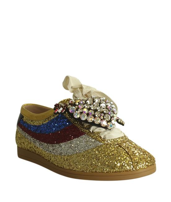 Item - Gold Glitter Falacer Leather (191559) Sneakers Size EU 35.5 (Approx. US 5.5) Regular (M, B)