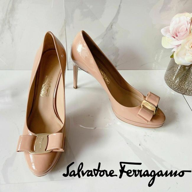 Item - Nude Patent Osimo Pumps Size US 7.5 Regular (M, B)
