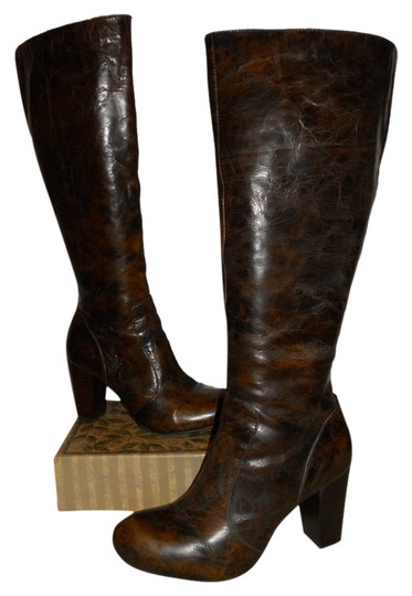 Preload https://item1.tradesy.com/images/born-black-and-brown-tall-leather-bootsbooties-size-us-10-regular-m-b-2816830-0-0.jpg?width=440&height=440