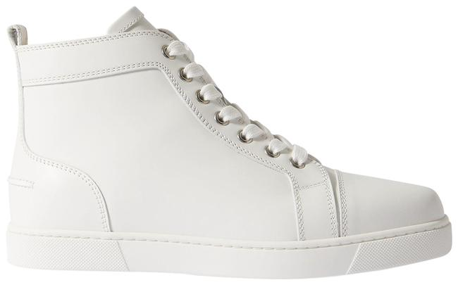 Item - White Louis Logo-embellished Leather High-top Sneakers Size EU 35 (Approx. US 5) Regular (M, B)
