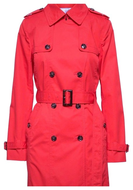 Item - Red/Orange Water-resistant Classic Coat Size 8 (M)