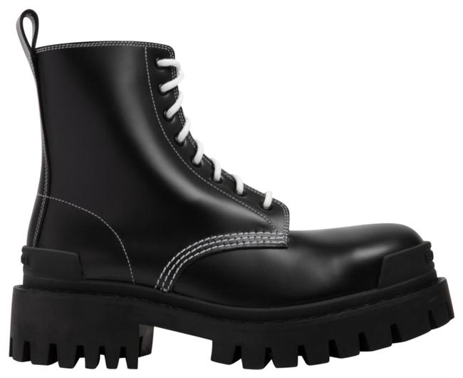 Item - Black/White Dm Strike Leather Lace-up Boots/Booties Size EU 36 (Approx. US 6) Regular (M, B)