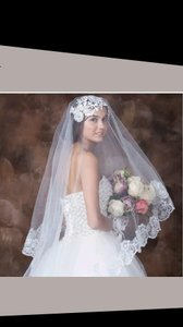 *******2 Layer-lace Edge Wedding Veil New****