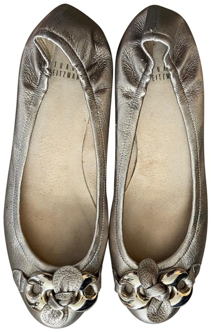 Item - Gold Metallic Knot Flats Size US 8.5 Regular (M, B)
