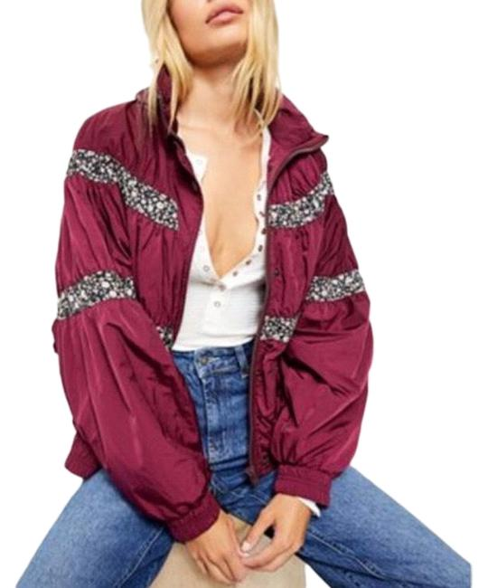 Free People Mulberry On My Mind Bomber Coat Size 10 (M) Free People Mulberry On My Mind Bomber Coat Size 10 (M) Image 1