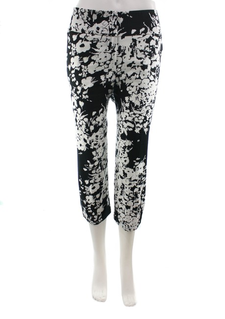 Item - Black & White Alex Floral Pants Size 16 (XL, Plus 0x)