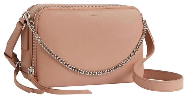 Item - Rosemary Square Nude Pink Leather Cross Body Bag