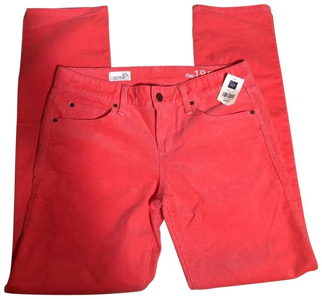 "Item - Pink Reef ( I Call It Pinkish Coral) Nwt-sz 27p/4- 1969 ""real Corduroy Jeans-28"" Inseam Straight Leg Jeans Size Petite 4 (S)"