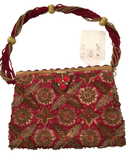 Preload https://item5.tradesy.com/images/red-and-bronze-silk-bead-clutch-2817079-0-0.jpg?width=440&height=440