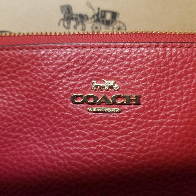 Item - Purse Small Red Leather Wristlet