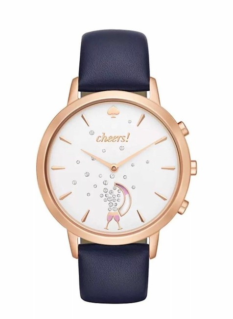 Item - Navy Grand Metro and Rose Gold Hybrid Smartwatch Watch