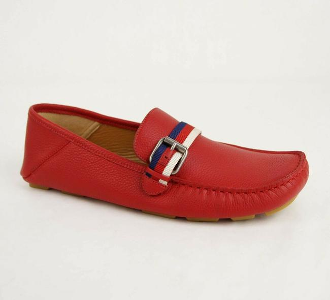 Item - Red Leather Slip On Loafer with Brw Web Strap 7.5g/Us 8 473766 6467 Shoes