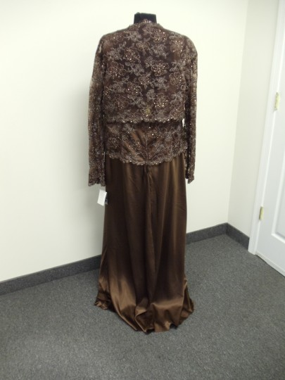 Alyce Paris Cocoa Brown 29146 Formal Bridesmaid/Mob Dress Size 26 (Plus 3x)