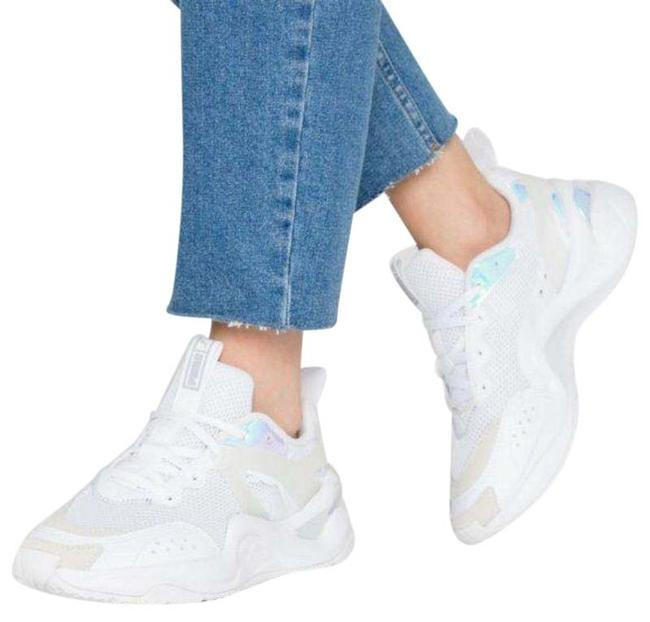 Item - White Blue Rise Glow Low Top In Sneakers Size US 8.5 Regular (M, B)