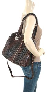 Tulah Ray Split Extended Zip Zip Extended Strap Fall Collection Satchel in Berry