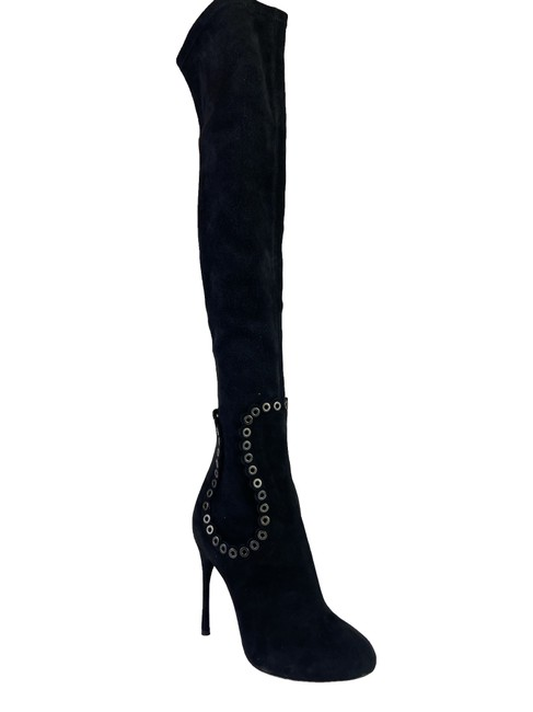 Item - Black Suede Knee High Boots/Booties Size EU 38 (Approx. US 8) Regular (M, B)