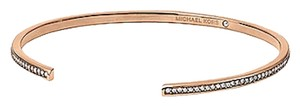 Michael Kors NEW WITH TAGS! Michael Kors Rose Goldtone Clear Pave Thin Bar Open Cuff Bracelet