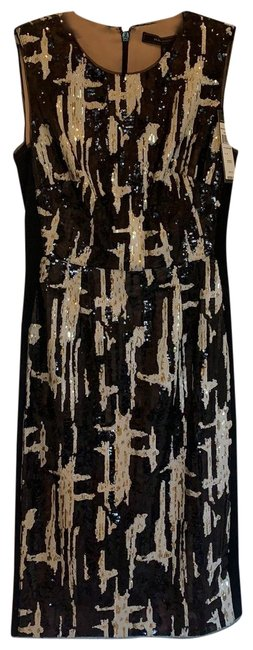 Item - Black and White Larisa Mid-length Cocktail Dress Size 0 (XS)