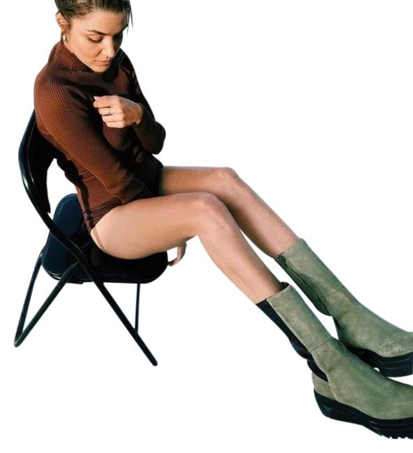 Item - Green Flat Split Suede Ankle with Track Soles Boots/Booties Size US 10 Regular (M, B)