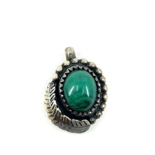 Item - Green Native American Sterling Silver Pendant