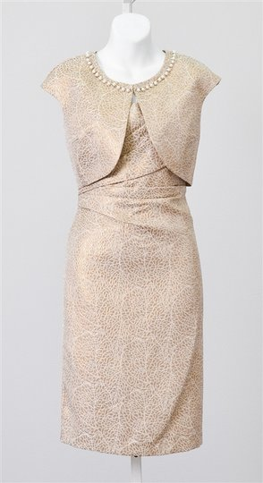 KM Collections Butterscotch 51269 Modest Bridesmaid/Mob Dress Size 16 (XL, Plus 0x)