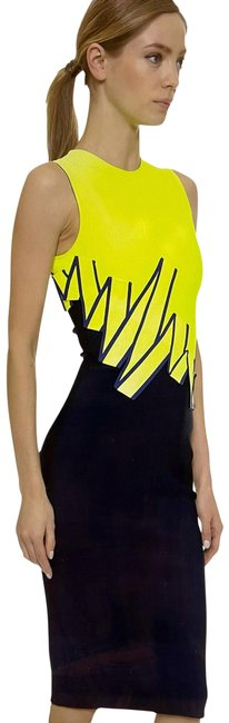 Item - Blue/Yellow Mid-length Night Out Dress Size 8 (M)
