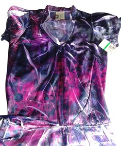 L8ter V-neck Top pink and purple