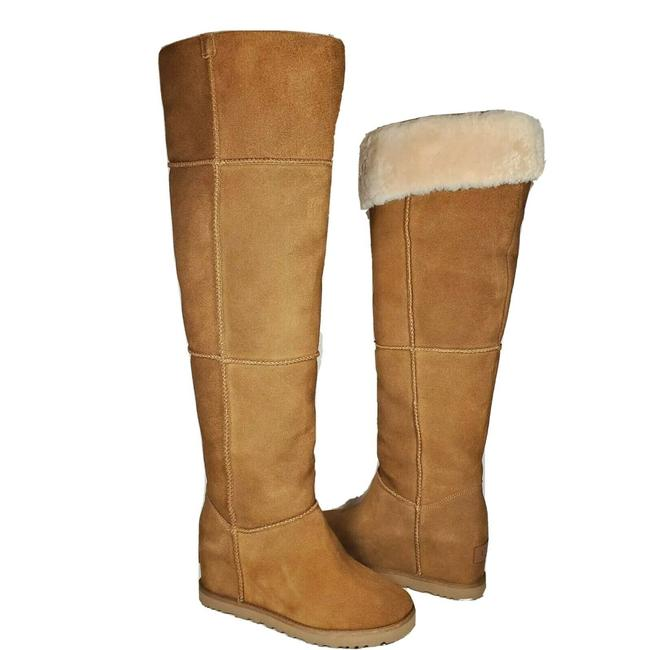Item - Tan Otk Classic Femme Over The Knee Pull-on Shearling Boots/Booties Size US 6 Regular (M, B)