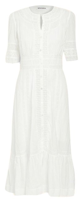 Item - White Oxford Ivory Long Casual Maxi Dress Size 6 (S)