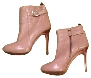 Ann Taylor Buckles Round Toe Leather Fawn Boots