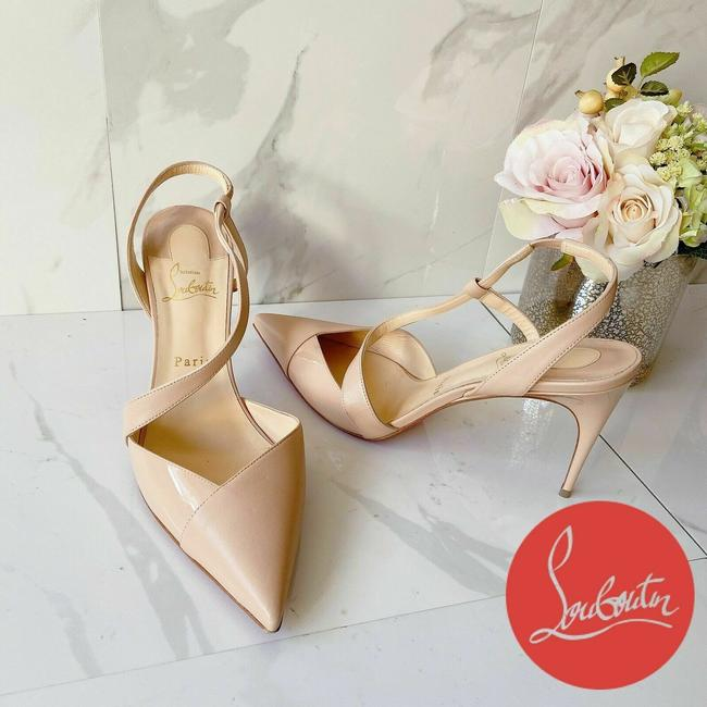 Item - Nude Naturle Platina Pointed Toe Strap Slingback Pumps Size US 10 Regular (M, B)