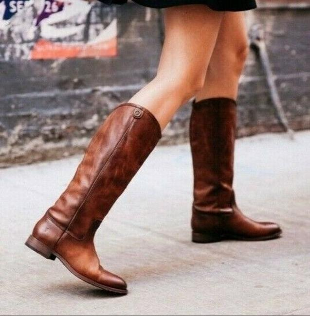 Item - Brown Melissa Button 2 Women's Knee High Pull On Leather Boots/Booties Size US 9.5 Regular (M, B)