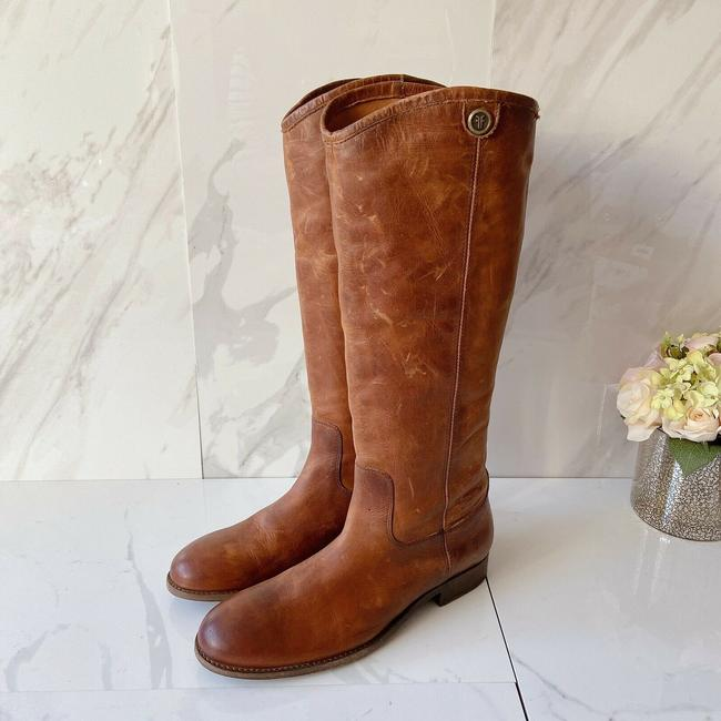 Frye Brown Melissa Button 2 Women's Knee High Pull On Leather Boots/Booties Size US 9.5 Regular (M, B) Frye Brown Melissa Button 2 Women's Knee High Pull On Leather Boots/Booties Size US 9.5 Regular (M, B) Image 4