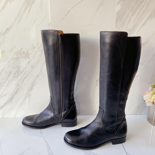 Item - Black Carly Low Heel Knee High Riding Zip Leather Boots/Booties Size US 8 Regular (M, B)