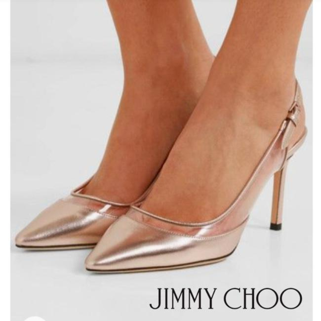 Jimmy Choo Gold Clear Platinum Erin 85 Heels Slingback Pointed Toe Pumps Size US 8.5 Regular (M, B) Jimmy Choo Gold Clear Platinum Erin 85 Heels Slingback Pointed Toe Pumps Size US 8.5 Regular (M, B) Image 1
