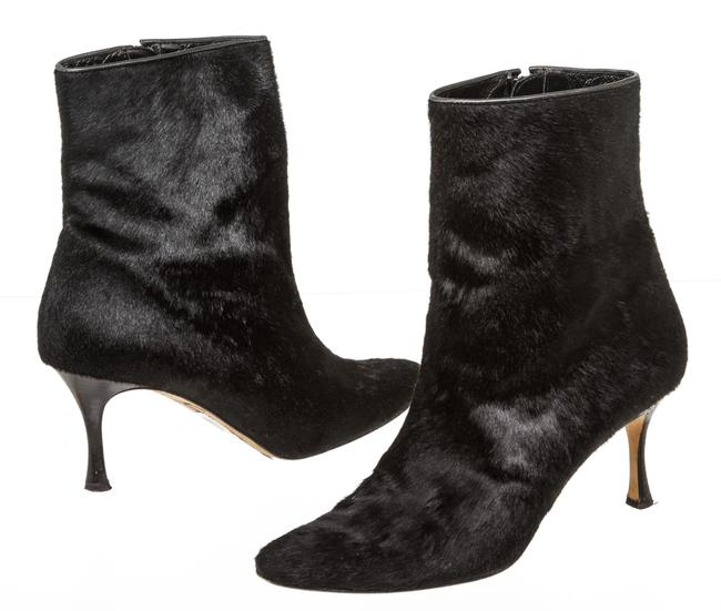 Item - Black Rc 500748 Pony Hair Ankle Boots/Booties Size EU 39 (Approx. US 9) Regular (M, B)