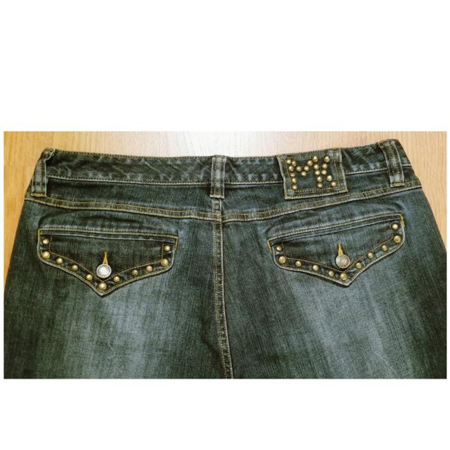 Item - Blue Dark Rinse Studded Boot Cut Jeans Size 34 (12, L)