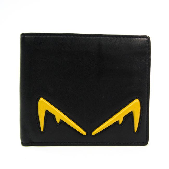 Item - Black / Yellow Bugs 7m0169 Unisex Leather Bill (Bi-fold) Wallet