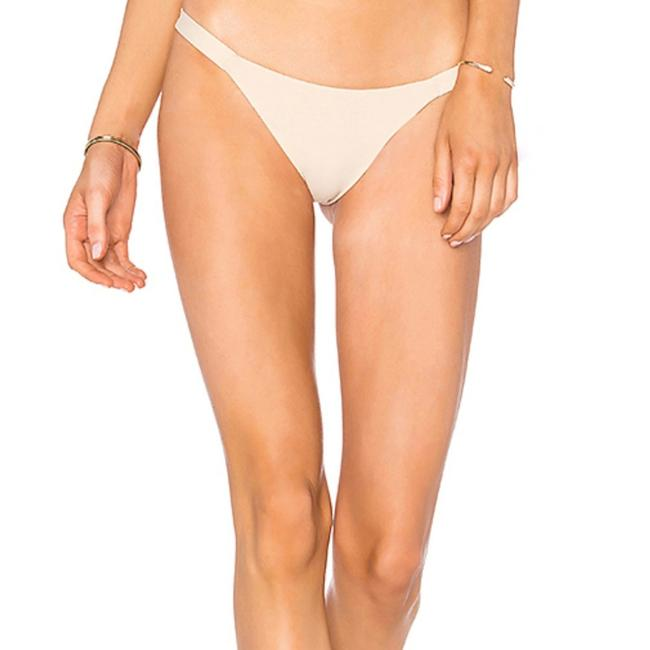 Item - Beige Heather Stretch Tapioca Bikini Bottom Size 12 (L)