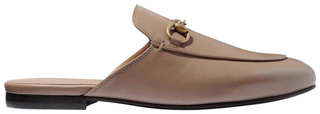 Item - Taupe Princetown Horsebit-detailed Leather Slippers Flats Size EU 38 (Approx. US 8) Regular (M, B)