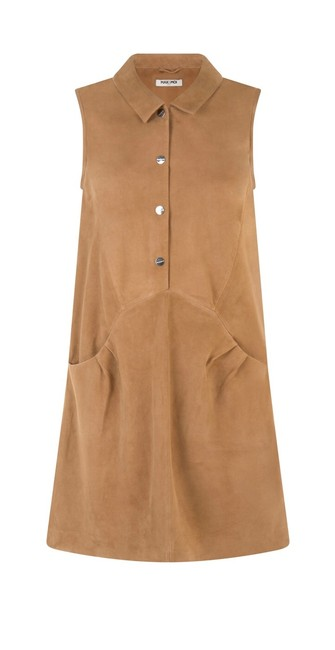 Item - Camel New and Paris Genuine Goat Suede Sily Short Night Out Dress Size 4 (S)