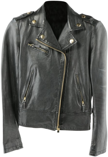 Item - Black Plongé Biker Jacket Size 12 (L)