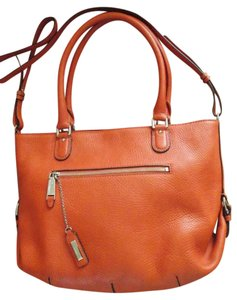 Cole Haan Pebbled Leather Classy Summer Spring Evening Daytime Style Drama Attention Grabber Hot Deep Casual Shoulder Bag