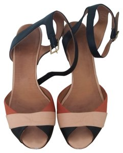 Chie Mihara Black and Nude Sandals