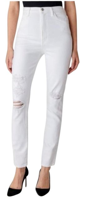 Item - White Real-life Rigid Straight Leg Jeans Size 27 (4, S)